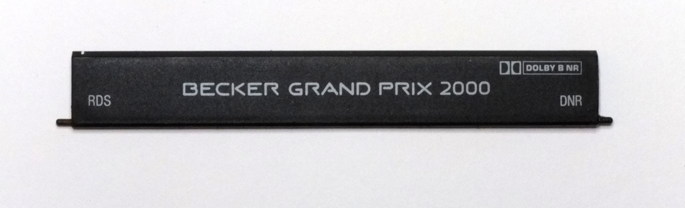 becker grand prix 2000 rds cassettenfachklappe. Black Bedroom Furniture Sets. Home Design Ideas