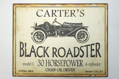 Carter´s Black Roadster Blechschild