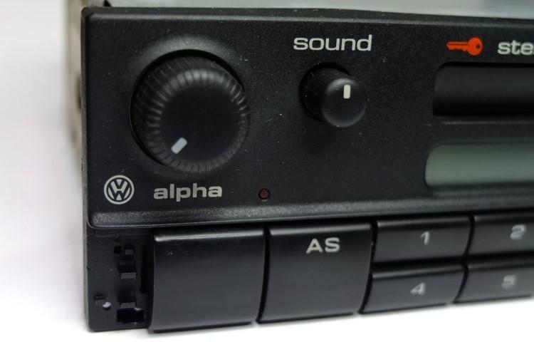 blaupunkt vw alpha cassette autoradio. Black Bedroom Furniture Sets. Home Design Ideas